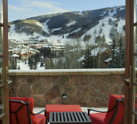 View from Elegant Mountain Chalet